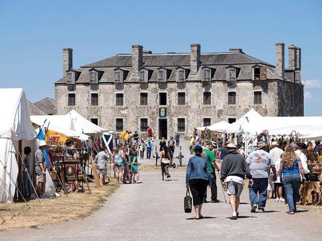Crowd at Old Fort Niagara
