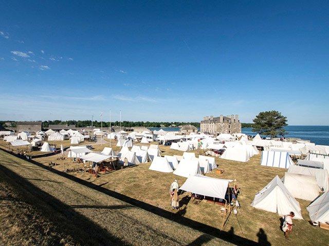 French Camp at Old Fort Niagara