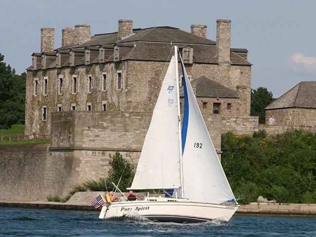 Sailing past Old Fort Niagara