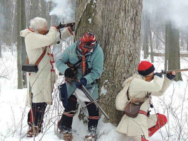A Winter Woods Battle