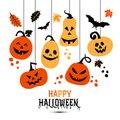 Halloween Pumpkins Hanging