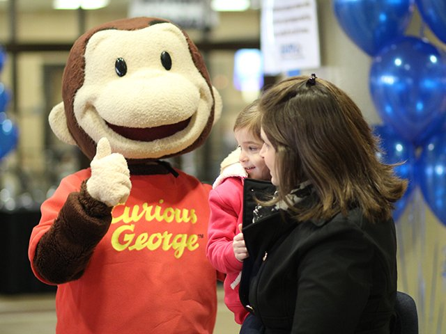 Curious George at Expo