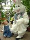 The Easter Bunny at the Botanical Gardens