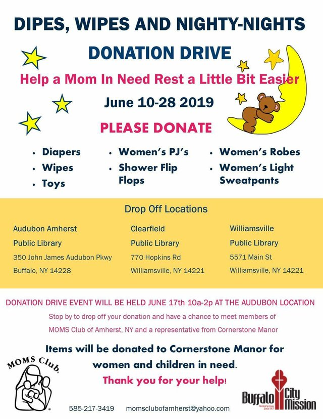 Dipes, Wipes and Nighty-Nights Donation Drive