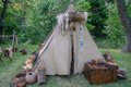Indian Camp at Old For Niagara