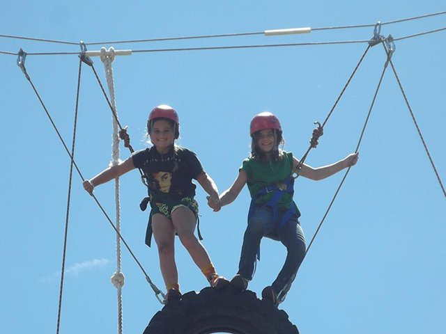 Girl Scouts on High Rope Elements