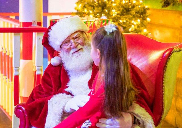 Santa with Little Girl