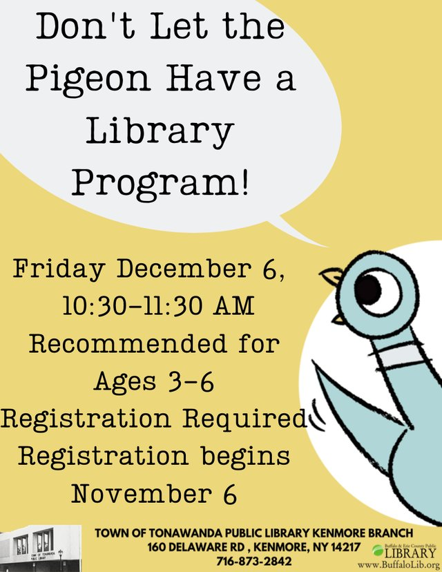 Don't Let the Pigeon Have a Library Program!