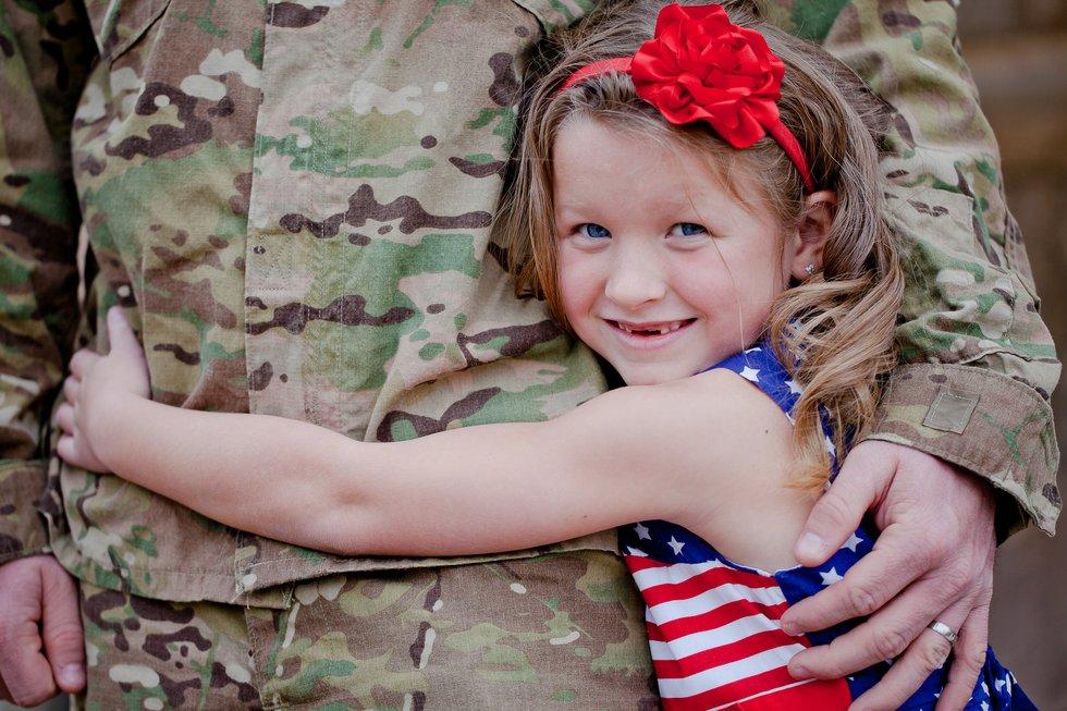 Veteran's Day Little Girl