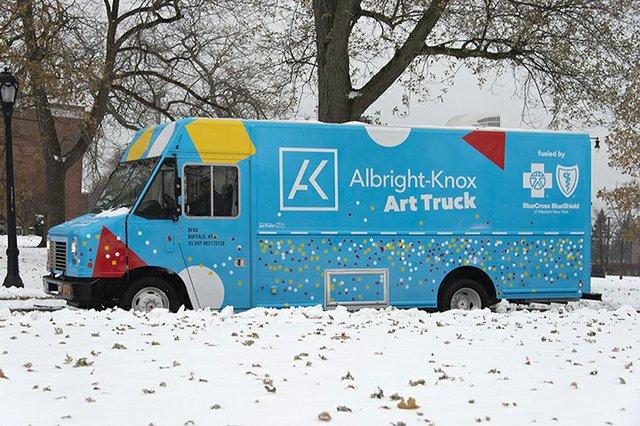 Albright Knox Art Truck in Winter