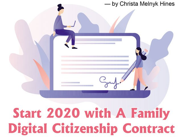 Start 2020 with A Family Digital Citizenship Contract