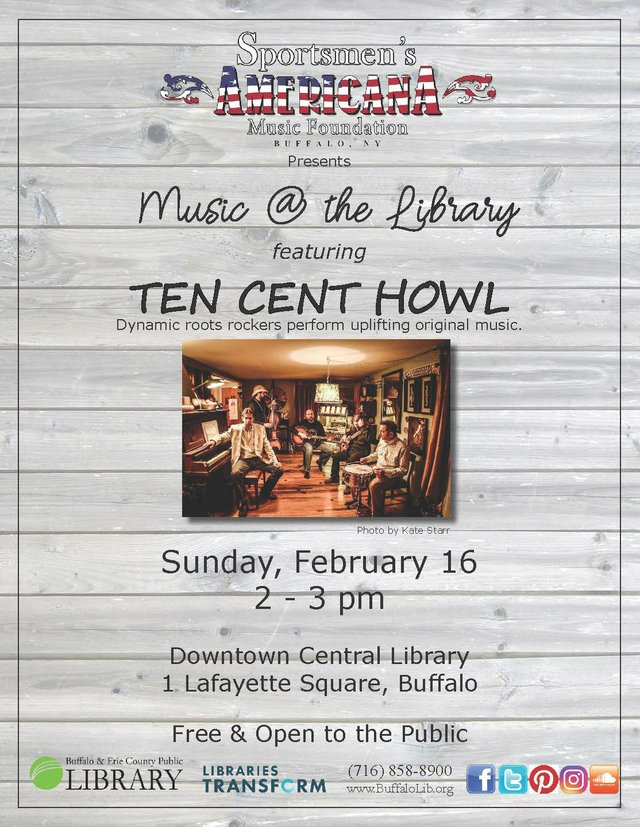 Music @ the Library: Ten Cent Howl