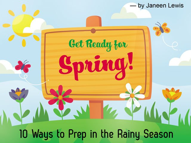Get Ready for Spring! 10 Ways to Prep in the Rainy Season