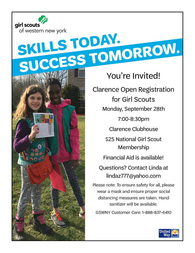Clarence Girl Scout Registration Night
