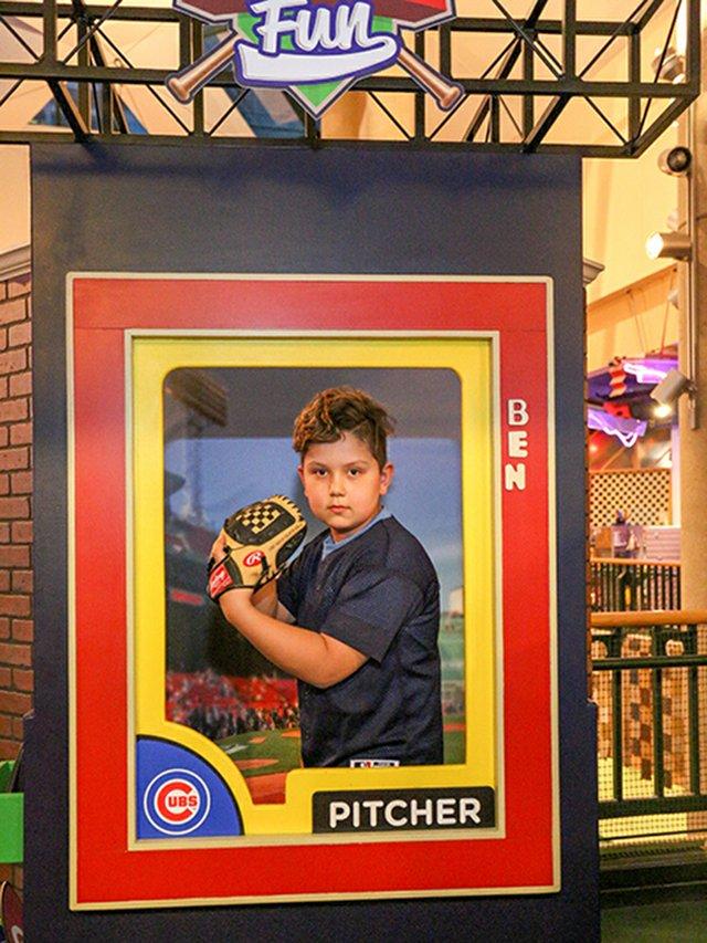 Boy In Baseball Card Frame