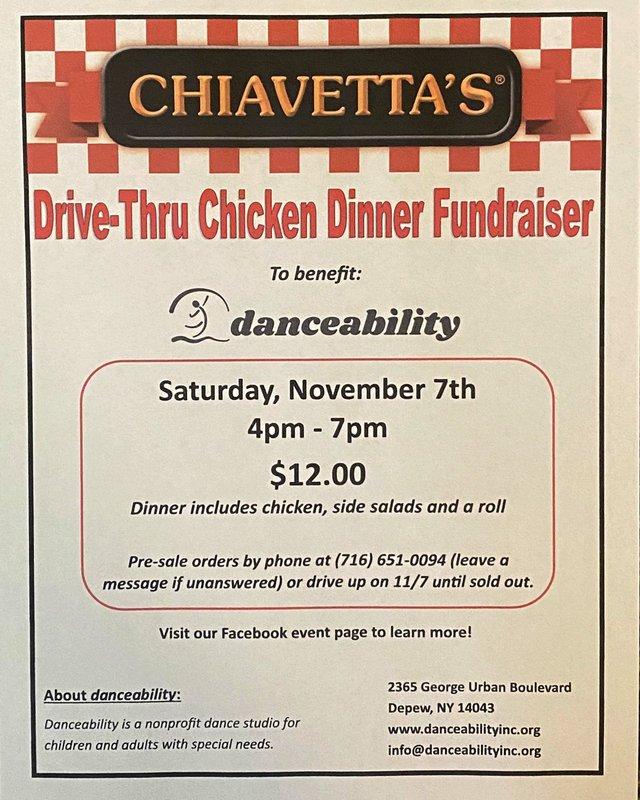 Chiavettas Drive-Thru Fundraiser for Danceability