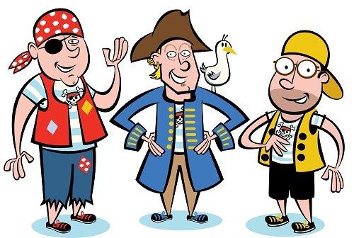 Three Happy Pirates