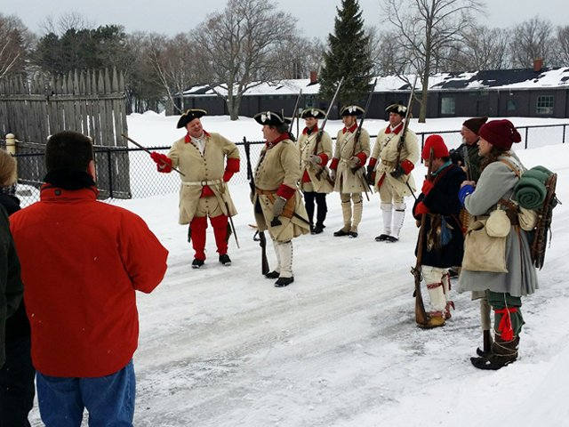 Officers at Old Fort Niagara